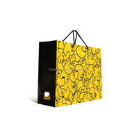 100% Recycled Kraft matte paper shopping bags in two-tone color combination of Pistachio & Chocolate