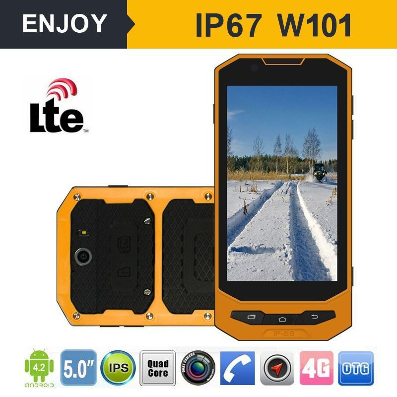 IP67 android 4.4 quad core waterproof shockproof 3g rugged cell phone