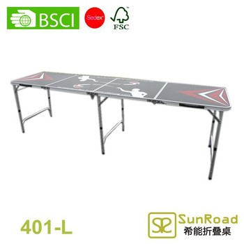 4 Sections (2.4m 8') Multi Purpose Folding Beer Pong Table