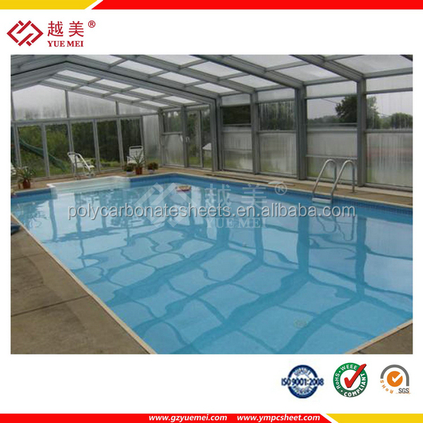 widly polycarbonate applications roofing greenhouse swimming pool cover