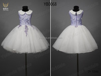 Beautiful sweet girl in stock white flower girl dresses with train