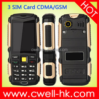 ALPS M12 CDMA/GSM Dual Mode Rugged Mobile Phone 2.4 Inch 3 SIM Card 4500mAh Battery Bluetooth V2.1 Unlocked
