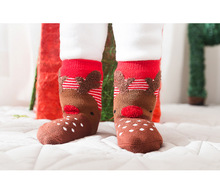 Christmas Baby Children Sock Cute Cartoon Red