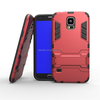 Dual Layer Kickstand Armor Mobile Phone Hybrid Case for Samsung galaxy S5 (G9006v)