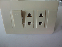 American style 2 gang 2 pin ABS wall socket and switch