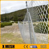 ASTM A392 standard hot galvanized Chain link fencing 50X50mm with CE certificate for dog kennels