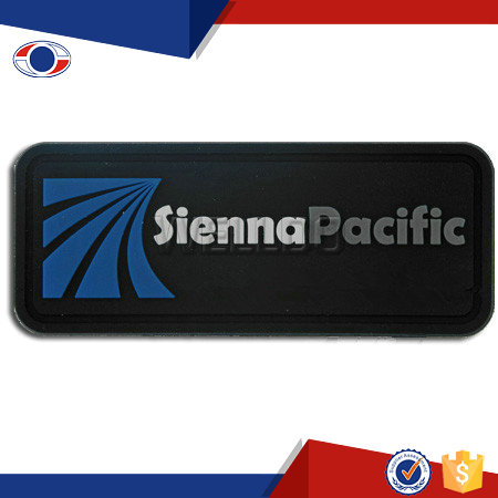 China supplier custom pvc rubber company logo patch