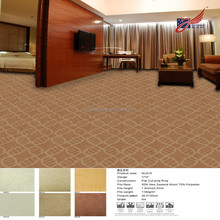 WJ515 wool blend hotel carpets in guangzhou