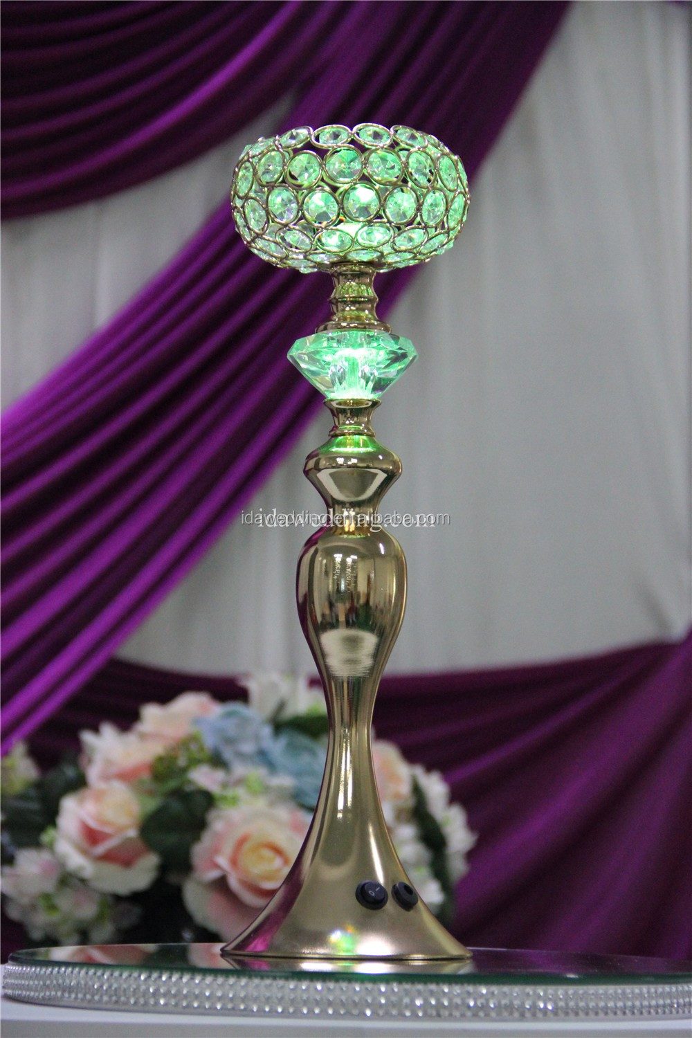 color changed led wedding lamp centerpiece