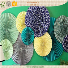 baby shower decoration ceiling High quality Pinwheel Paper Flower Decoration