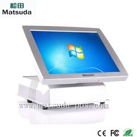 promotional 15 inch DDRIII 2G touch screen all in one edc pos terminal