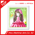 little girl 5D pupular home decor hotel room wall art diamond painting factory direct sale