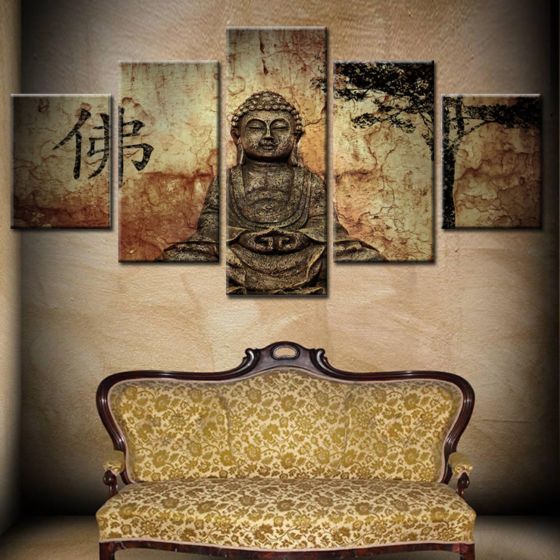 Room Canvas Print Modern Painting The figure of Buddha oil paintings