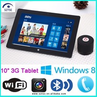 Intel Quad Core Windows 8 Cheapest 10 Inch Tablet PC with 3G SIM Card Slot