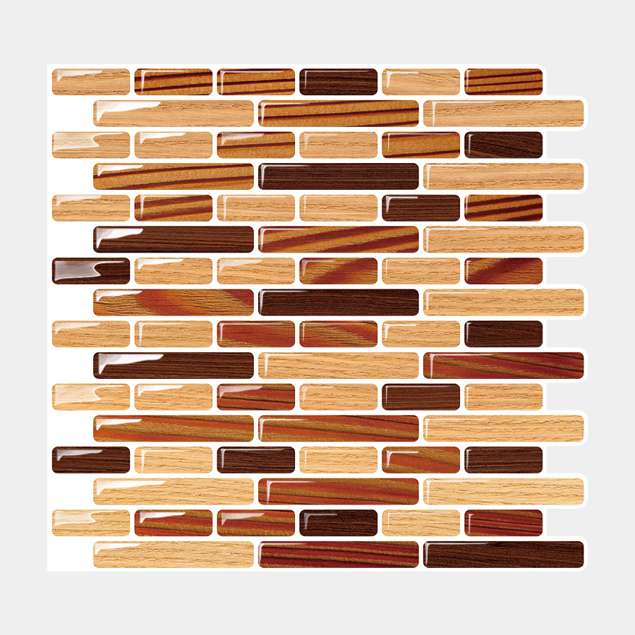 "Bigio 10"" x 11"" Peel and Stick Mosaic Tile in Chocolate"