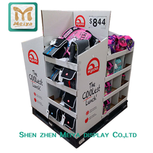 3 Tier Custom Merchandise Cardboard Paper Display Pallet Stands for Bags