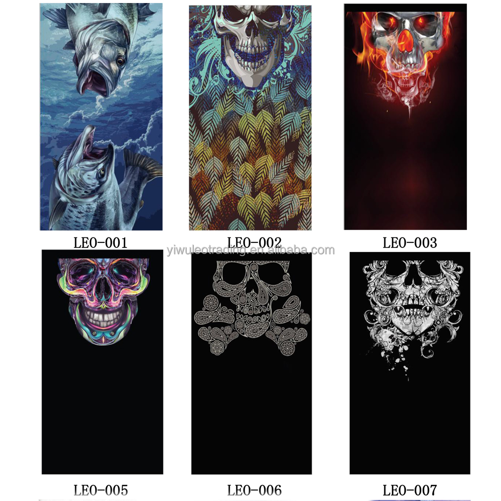 Cycling Skull Head Scarf Headwear Skull Face Shield Outdoor Magic Seamless Bandana riding scarf