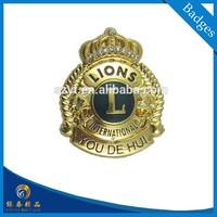 international lions club car logo plating 24k gold