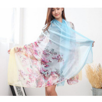 1pc hot sale beautiful latest design big long style shawl high quality printed fashion girl scarf silk