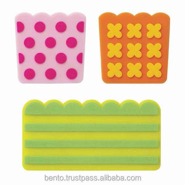 Silicone Baran Pop/ microwavable, bento tools, bento accessories, food divider