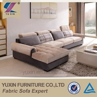 2015 modern high quality fabric sectional sofa/double divan sofa set