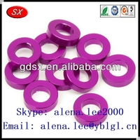 Custom various shape colored metal aluminum flat washers