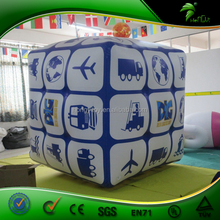 Inflatable Floating Dice Balloon / Custom Inflatable Helium Cube Balloon / Giant Inflatable Dice For Advertising Decoration