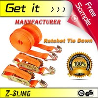 Z-Sling lashing strap 2 Ratchet Down Straps CE&TUV Certificated