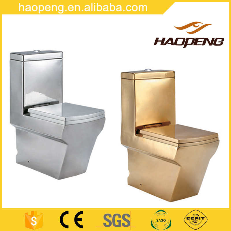 Luxury Design Ceramic Plating Gold / Sliver Color Bathroom Toilet / Colored Toilets For Sale