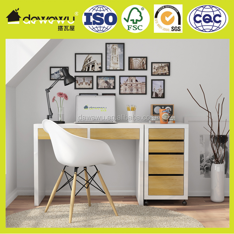 cheap wood melamine and lacquering student wooden desk with drawers