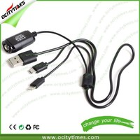 alibaba export china factory product 25cm black white 3 in 1 multi usb charger cable