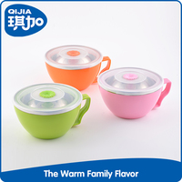 Promotion non slip plastic japanese bowl with lid
