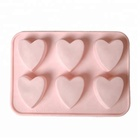 Hot Selling multi shape cartoon characters baking tools 6 cavity heart shape silicone chocolate molds