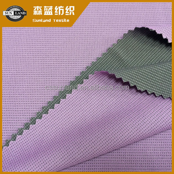breathable polyester with bamboo carbon interlock knit coolmax fabric