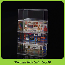 Bespoke stackable car box plastic display case for 1/43 scale model