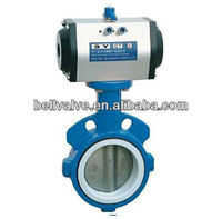 sanitary Pneumatic aluminium body butterfly valve with Positioner