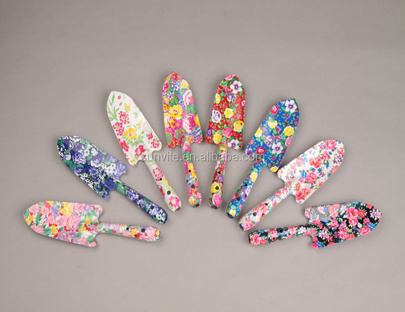 Ladies Manual Hand Tools Floral Printed Garden Hand Tools Trowel for Promotion