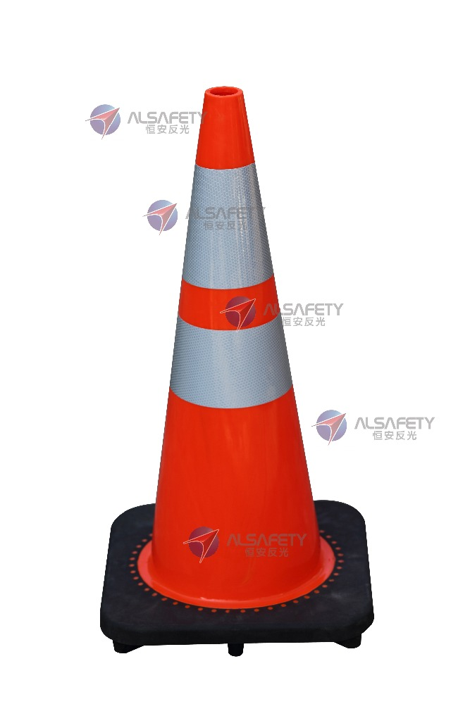 Hot sale high reflectivity 700mm PVC white red traffic cones