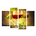 4 Pieces HD Printed Red Wine White Wine Canvas Painting Wine-tasting Wall Picture for Living Room/SJMT1905