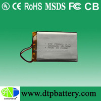 DTP rechargeable 12v 2800mah/2.8ah li-ion polymer/lipo battery