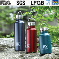 350ml 500ml 750ml 1L Stainless Steel Insulated Bottle Vacuum Flask, Sports water bottle with steel lid
