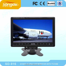Guangzhou Songde universal color 7 9 inch led monitor car tv 12 volt with usb
