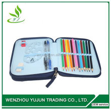 Popular Two Pocket 24pcs or 36pcs Color Pencils Sets Pencil Case / Pencil Bag / Pencil Pouch