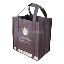 polypropylene foldable recycle customized high quality reusable bottle wine non woven shopping bag