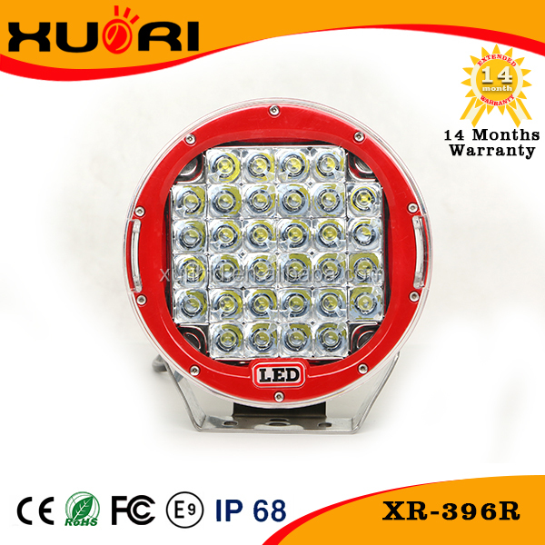 Super Bright Car Accessories 96W Red Led Work Light Led Headlight Tuning Light LED work light