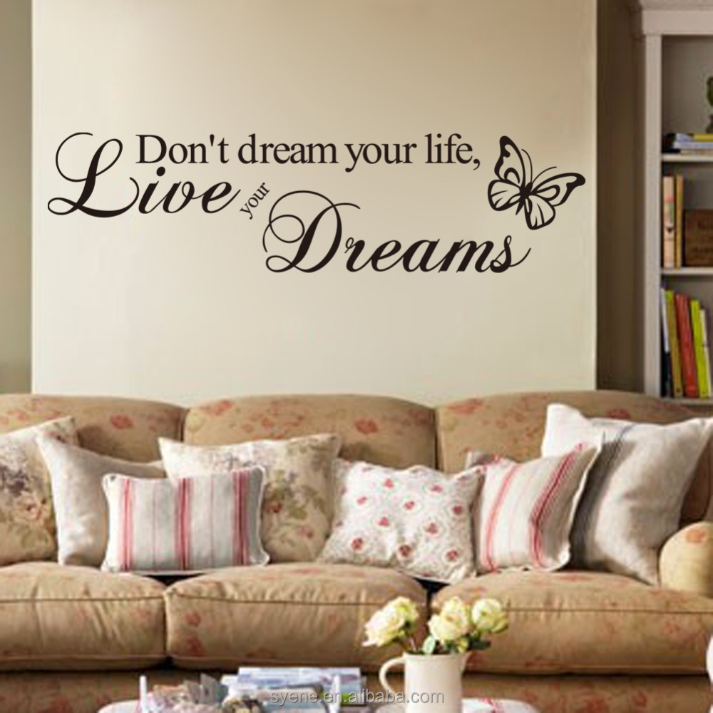 3d Wallpaper For Home Decoration Art Vinyl Quotes Dont