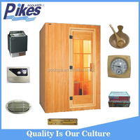Wholesale price Canadian hemlock red cedar wood outdoor dry sauna wet steam room for spa center