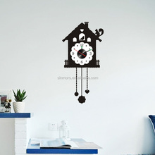 3D Cage Pattern Removable Home Decor Vinyl Wall Decal Digital Clock Sticker