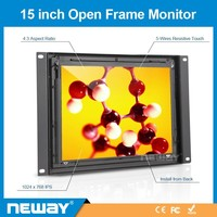 Hospital,station touchscreen open frame lcd 15 inch touch screen lcd monitor