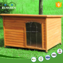 Slant Roof Dog Kennel Wooden Dog House Pet Cage Movable Roof